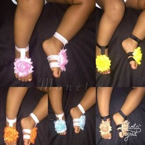 Other - 2 for 11 Baby Barefoot Sandals